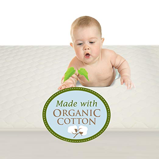 Organic Cotton Quilted Crib Pad