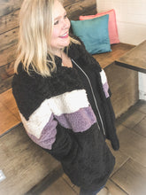Load image into Gallery viewer, Chic Warmth - lavender chevron coat
