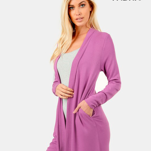 Soft Pocketed Cardi - Plus