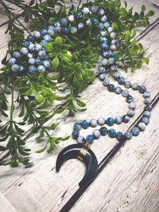 Long Natural Necklace - Blue