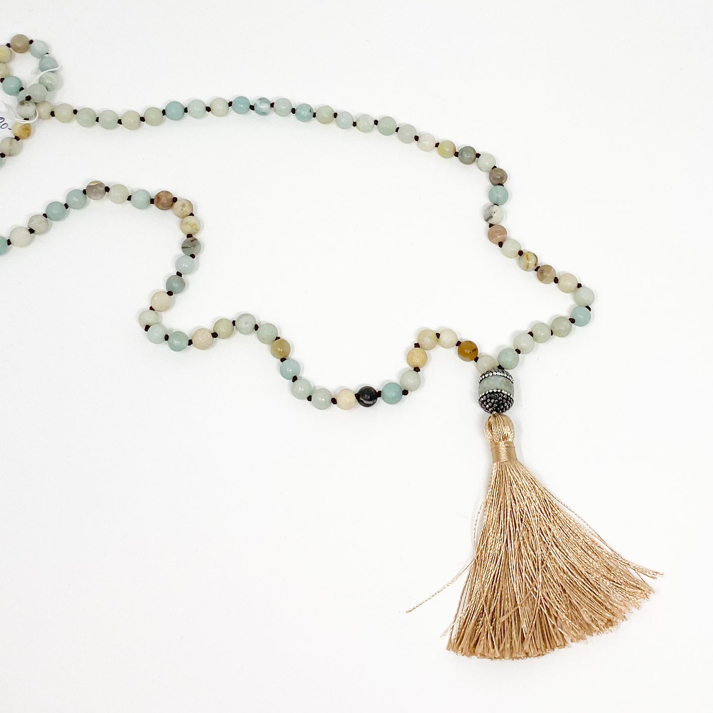 Matte Stone and Tassel Necklace