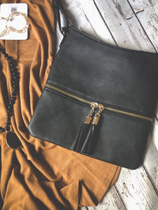 Black Tassel Crossbody