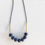 Wendy Nannestad - Necklace - Brass/Bead strands - Lapis Lazule