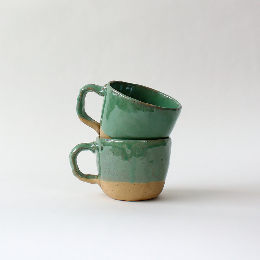 Coffee tumblers - speckled white