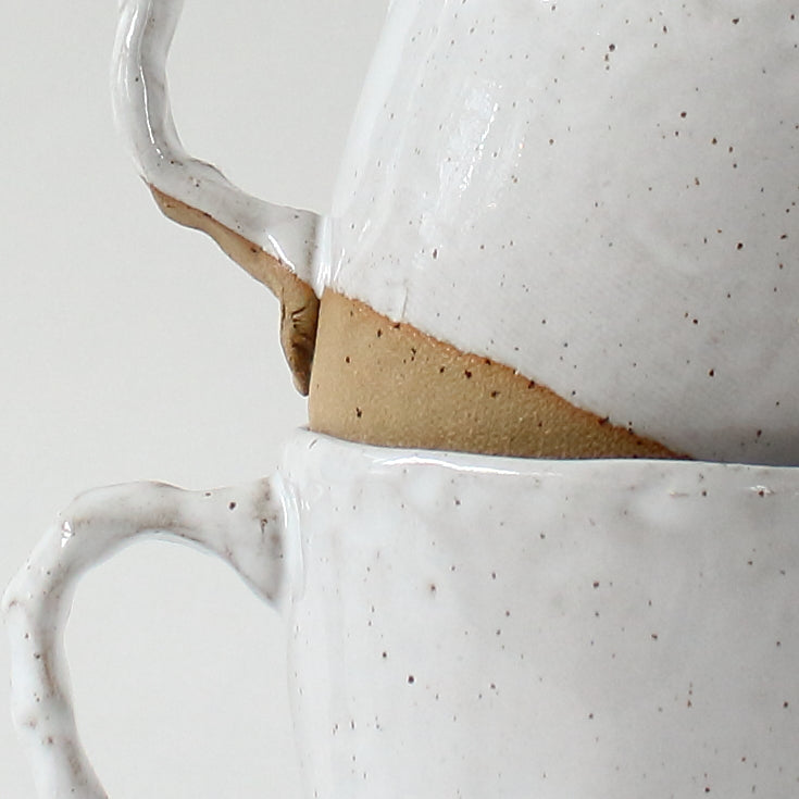 Tulip mug - speckled white