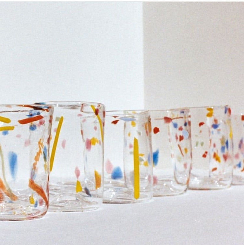 Kate Mitchell glass tumblers - confetti