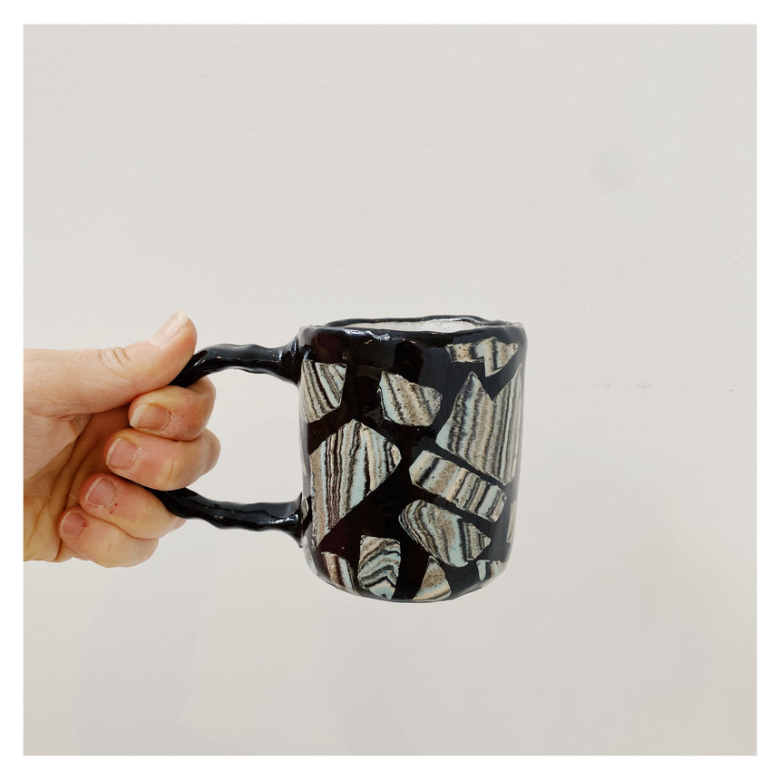 Horse in striped pyjamas mug