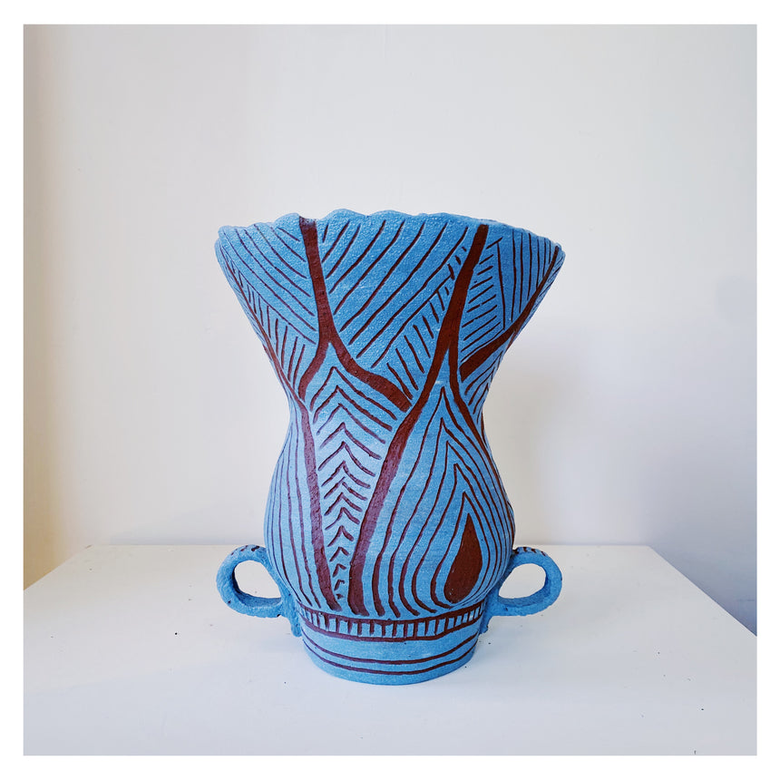 Lil Ceramics - Blue Bowl - zigzag