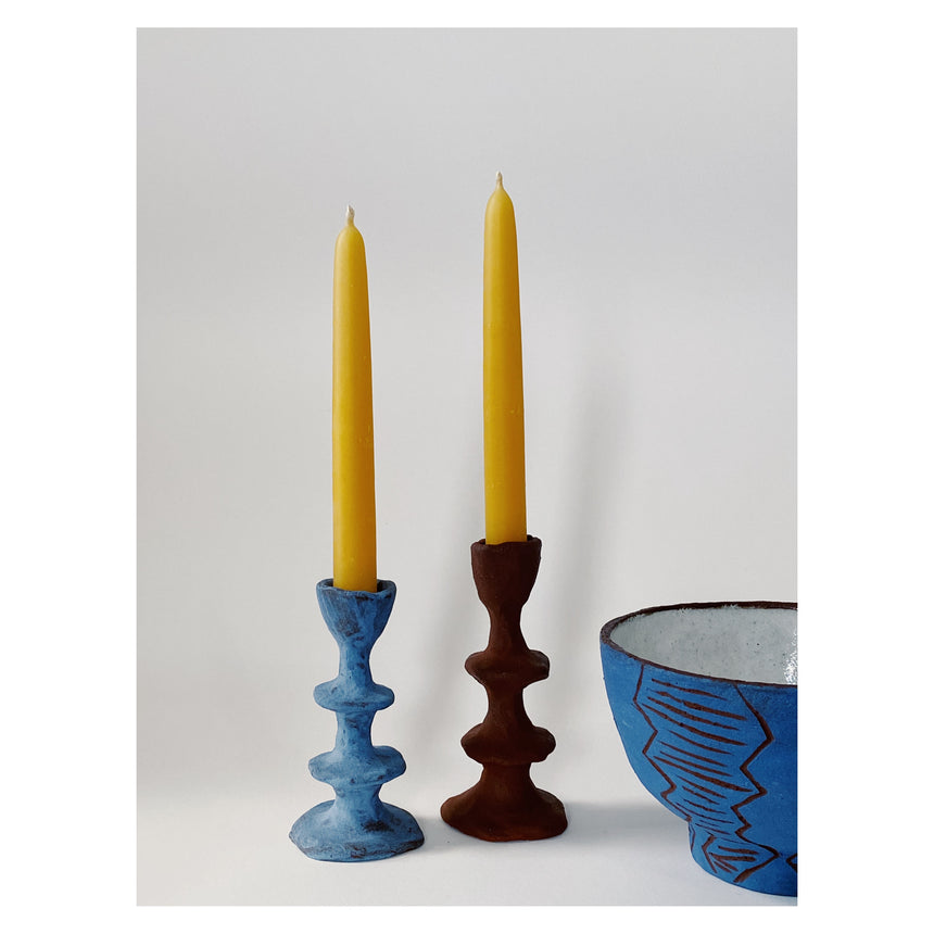 Beeswax Dinner candles 15cm