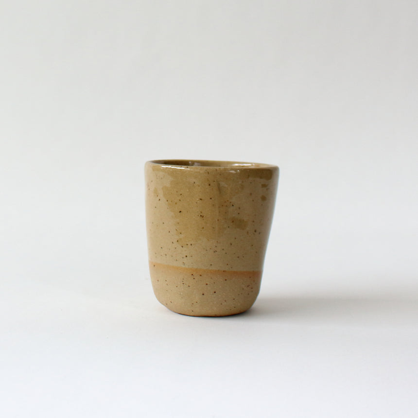 Coffee tumblers - speckled tan