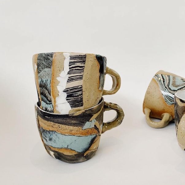 Low tide tulip mugs