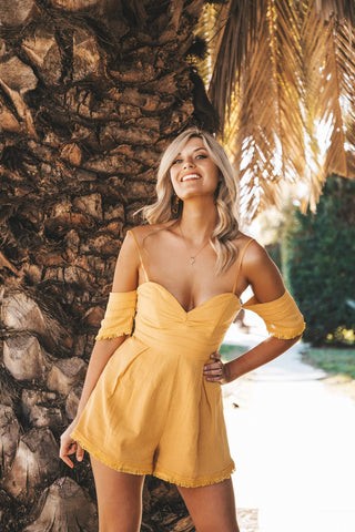 Sunflower Fields Romper