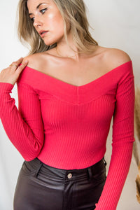 All I See Off The Shoulder Sweater Top - Finding July