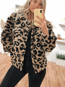 Après Leopard Button Up Jacket - Finding July