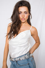 Load image into Gallery viewer, B&B Cowl Neck Cami in White- [Finding_July]