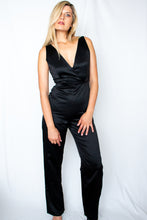 Load image into Gallery viewer, Be You Black Satin Jumpsuit - Finding July