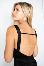 Load image into Gallery viewer, Be You Black Satin Jumpsuit- [Finding_July]