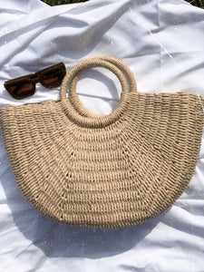 Big Woven Basket Bag - Finding July