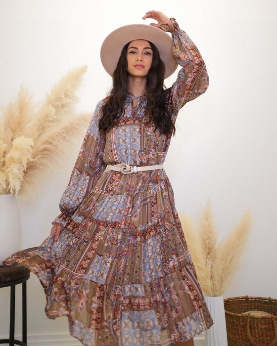 Bohemian Queen Midi Dress - Finding July
