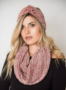 Chenille Double Twist Scarf-[finding_july]