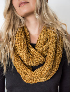 Chenille Double Twist Scarf- [Finding_July]