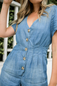 Country Life Denim Romper - Finding July