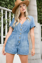 Load image into Gallery viewer, Country Life Denim Romper - Finding July