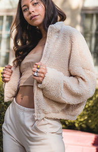 Cozy Up Teddy Bomber Jacket - Finding July