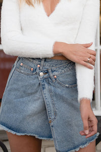 Crisscross Denim Skirt - Finding July