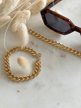 Load image into Gallery viewer, Cuban Curb Chain Link Necklace and Bracelet - Finding July