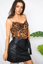 Load image into Gallery viewer, Dazed & Confused Vegan Leather Skirt-[finding_july]
