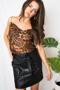 Dazed & Confused Vegan Leather Skirt - Finding July