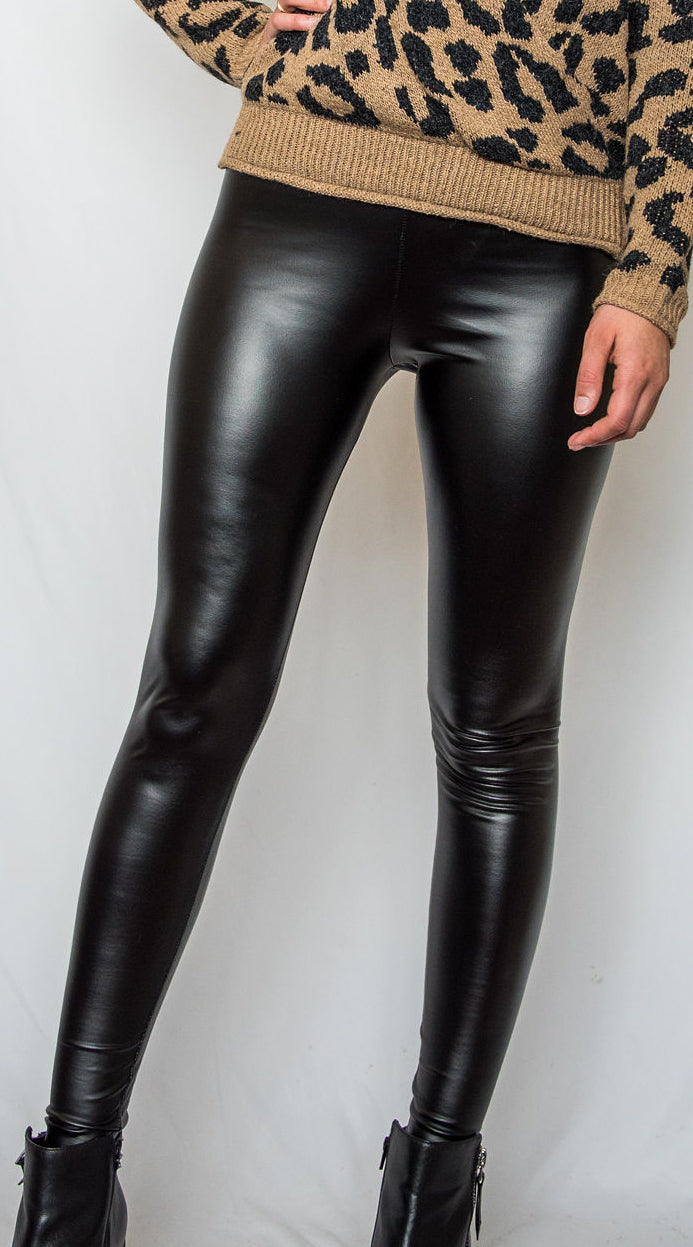Fame Faux Leather Leggings - Finding July