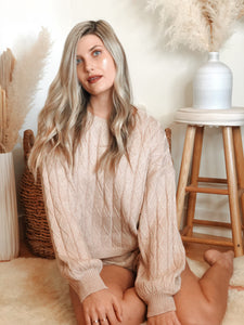Frosty Cable Knit Set - Finding July