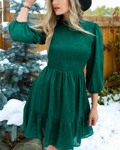 Home For The Holidays Satin Dress - Finding July