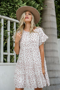 Latte Time Leopard Print Tiered Dress - Finding July