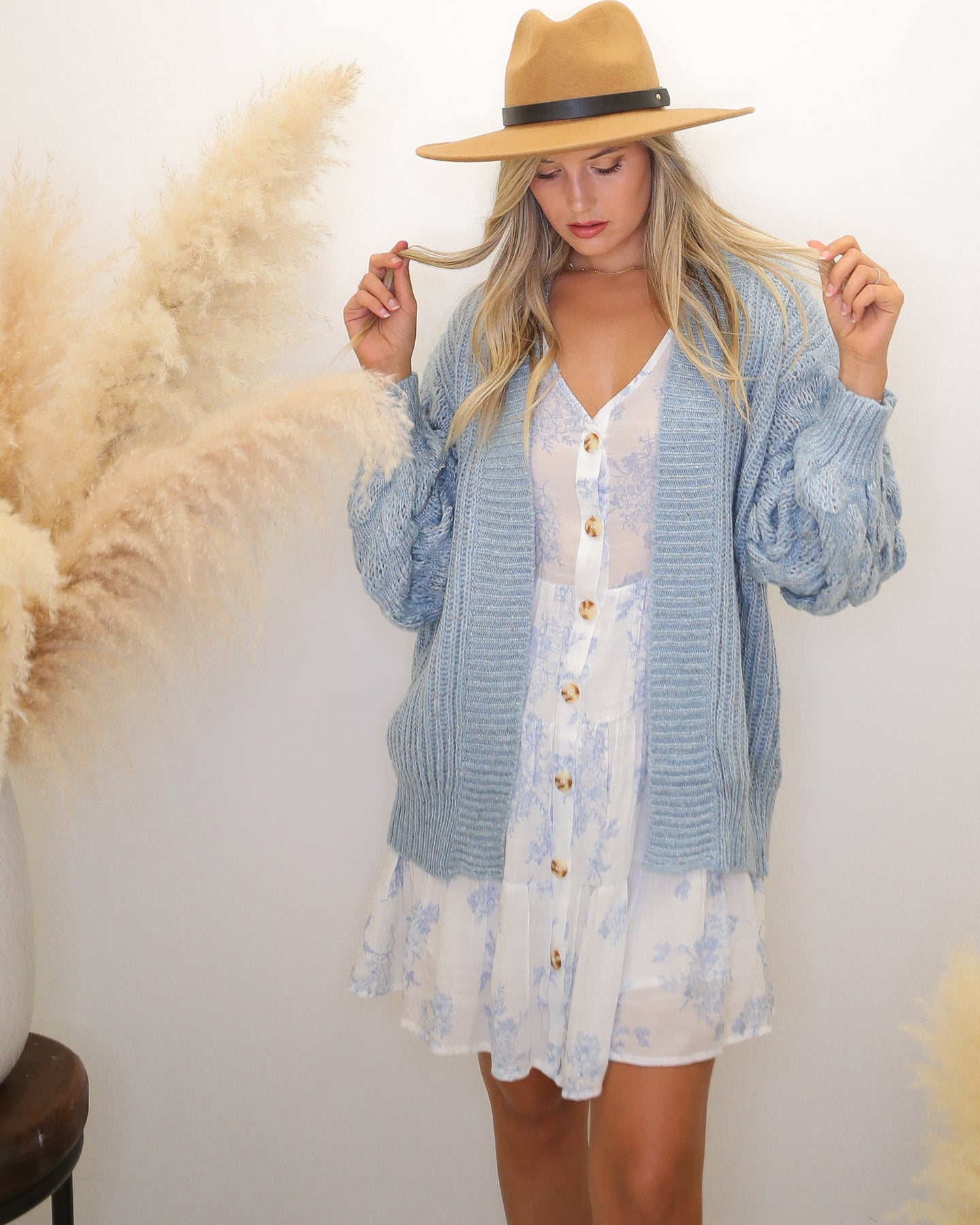 Pure Magic Bubble Sleeve Cardigan - Finding July