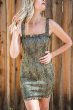 Load image into Gallery viewer, Smoke Show Smocked Dress