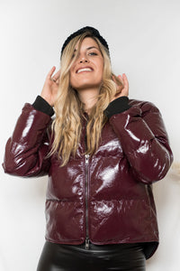 So Bomb Vinyl Puffer Jacket- [Finding_July]
