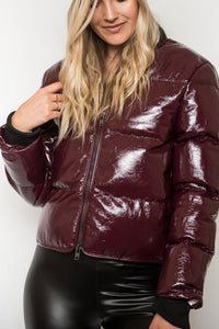 So Bomb Vinyl Puffer Jacket - Finding July