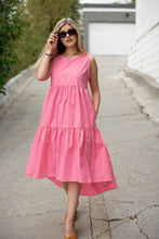 Load image into Gallery viewer, Spring Dreams Tiered Poplin Dress - Finding July