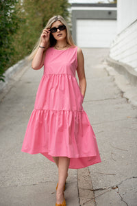 Spring Dreams Tiered Poplin Dress - Finding July