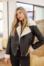 Load image into Gallery viewer, Super Star Sherpa Lined Moto Jacket - Finding July