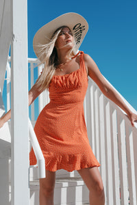Tango Dress in Tangerine - Finding July