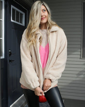 Load image into Gallery viewer, Totally Teddy Zip-Up Jacket - Finding July