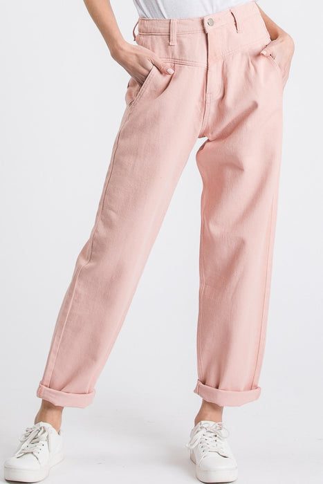 Yolo Pink Denim Pants - Finding July