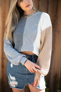 You See Me Colour Block Sweater - Finding July