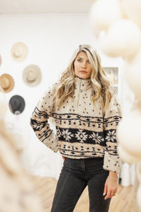 Aztec Sherpa Pullover - Finding July