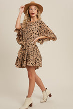 Load image into Gallery viewer, Bell Sleeve Leopard Dress - Finding July