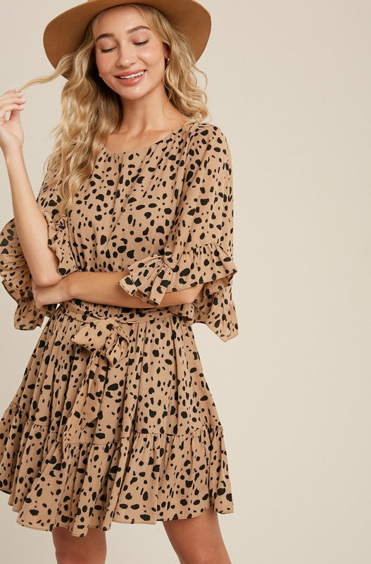 Bell Sleeve Leopard Dress - Finding July